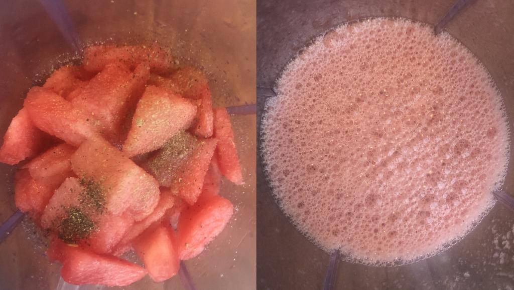 Blend Watermelon Juice In Mixer Jar