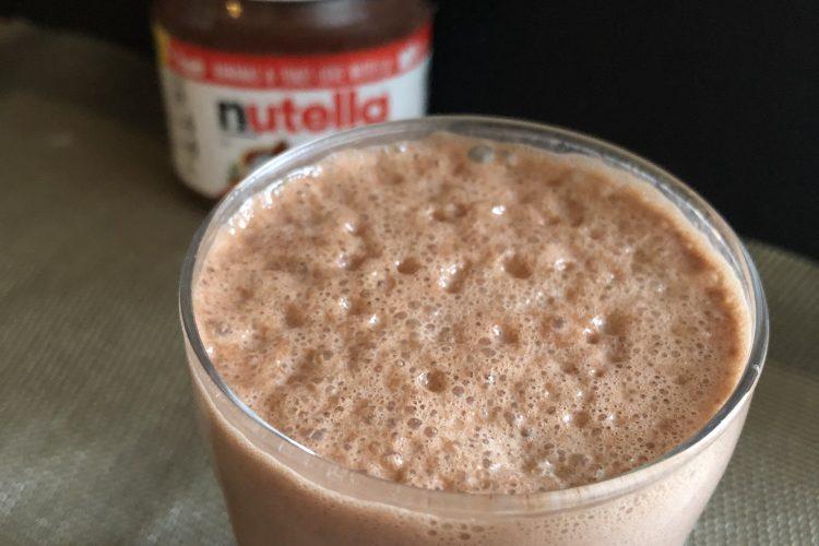 Nutella Milkshake is ready