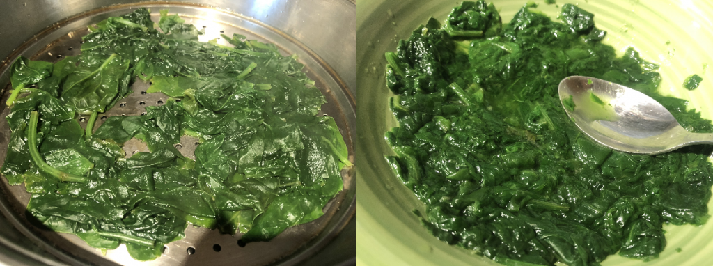 Smash spinach