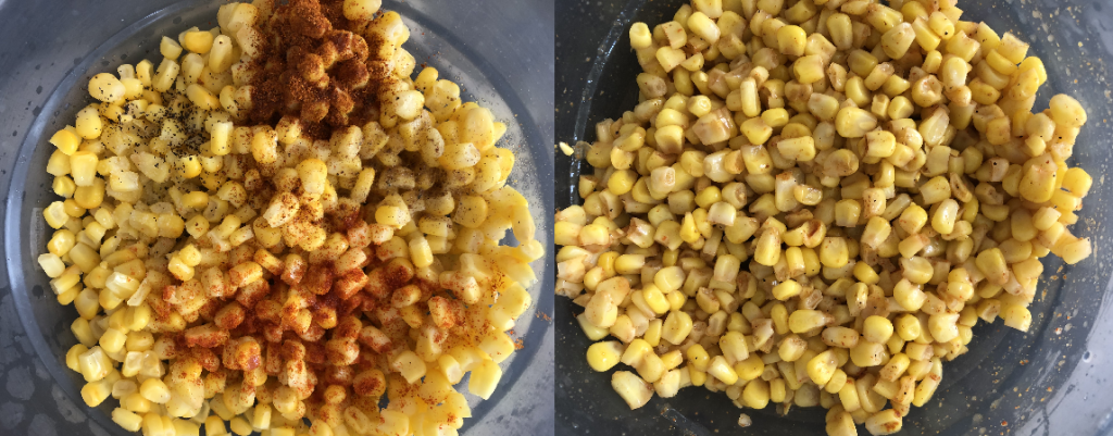 Spices Added In Boiled Corn
