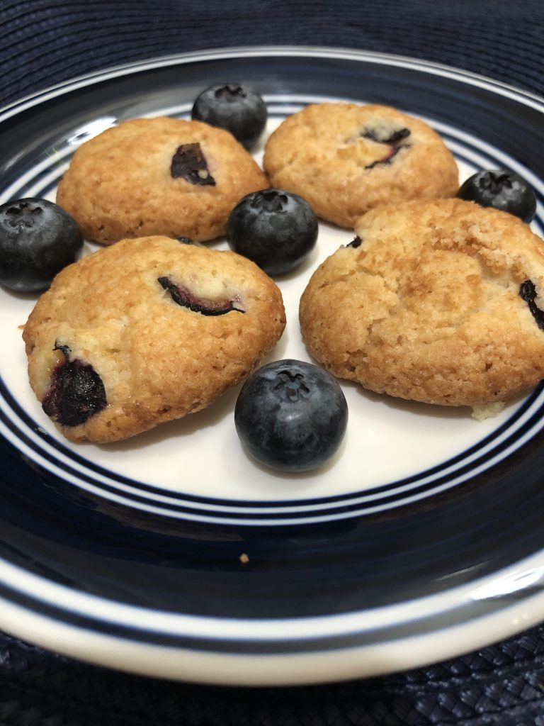 Blueberry cookies are ready