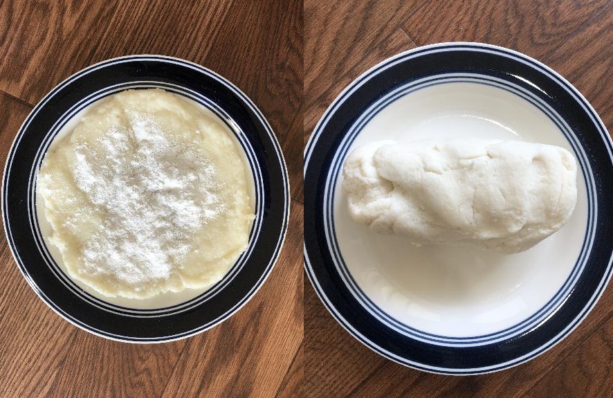 Soft dough is ready for kurkure recipe