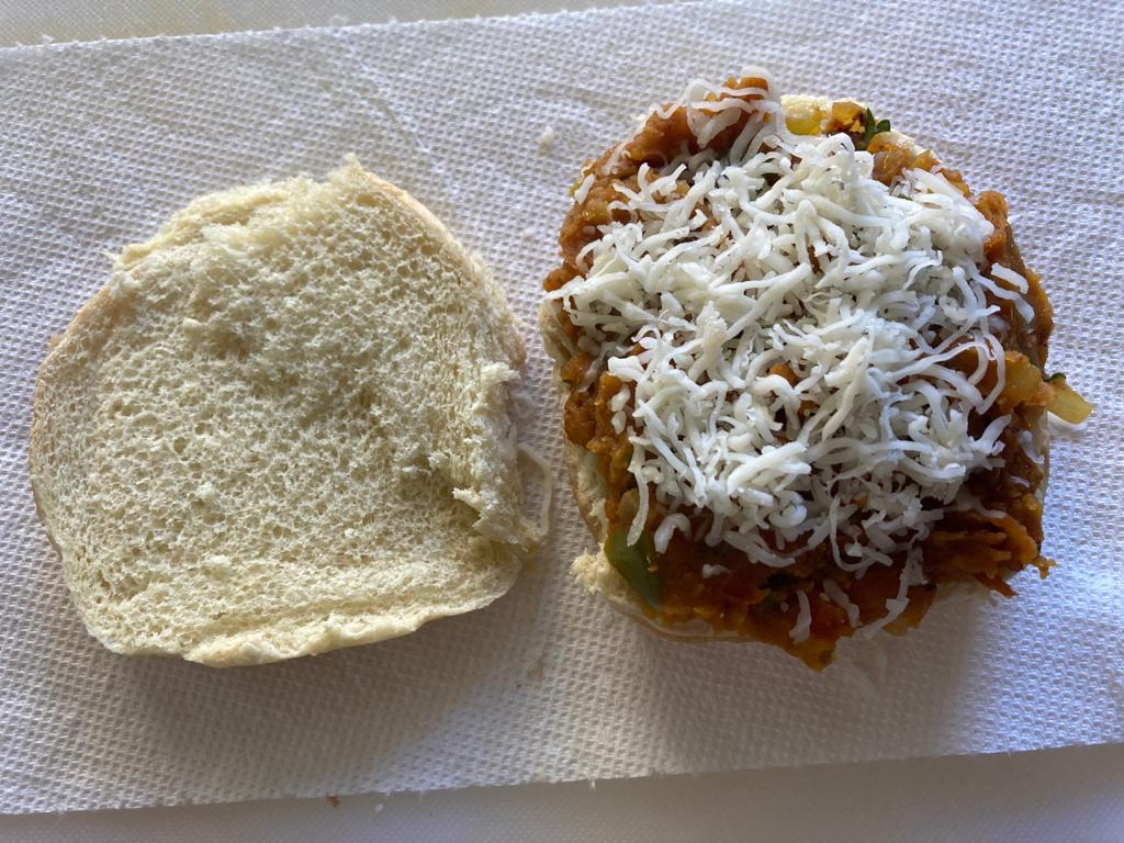 Add cheese over the sabji