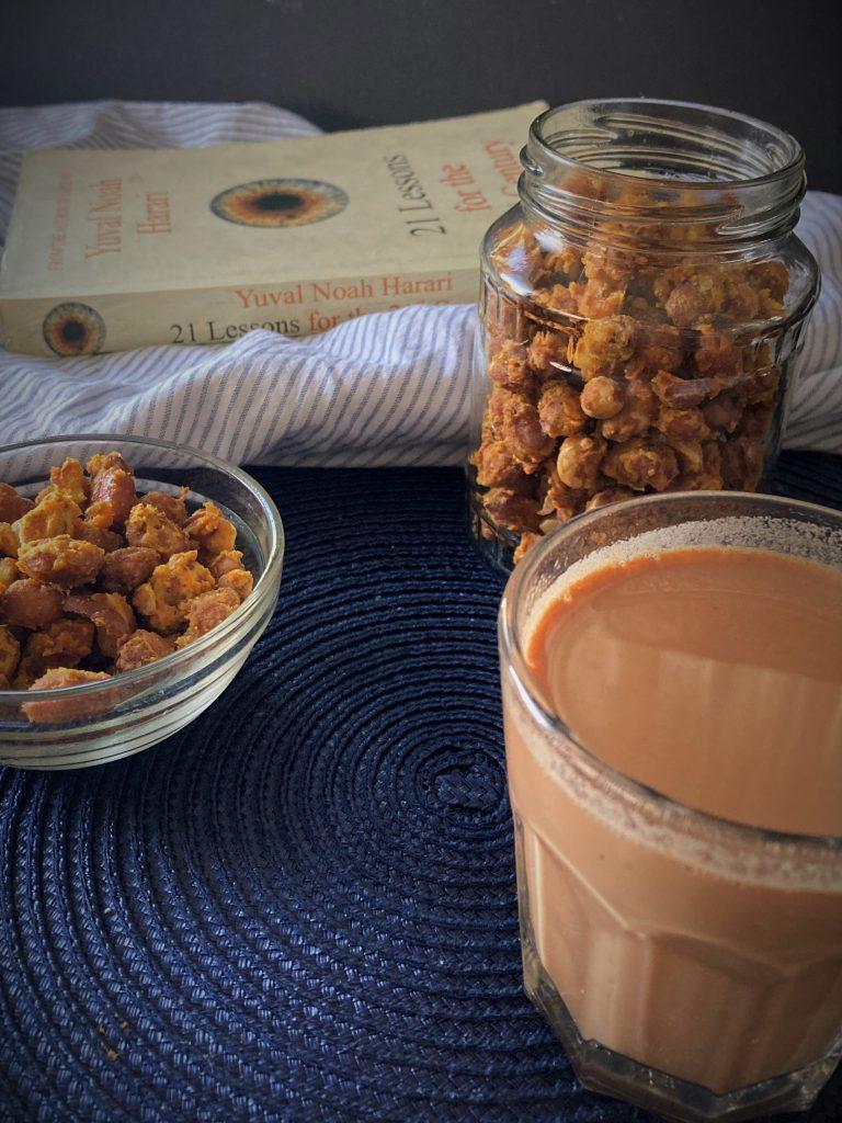 Baked Masala Peanuts are ready